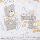 """Комплект в кроватку (6 предметов) """"Мишки и зайки"""", цвет бежевый, бязь, хл100% - фото 105559896"""