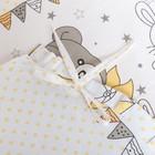 """Комплект в кроватку (6 предметов) """"Мишки и зайки"""", цвет бежевый, бязь, хл100% - фото 105559897"""