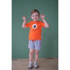 """Комплект: футболка и шорты KAFTAN """"Монстр"""" р.28 (86-92), оранжевый, серый - фото 105468644"""