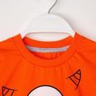 """Комплект: футболка и шорты KAFTAN """"Монстр"""" р.28 (86-92), оранжевый, серый - фото 105468646"""