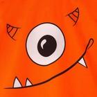 """Комплект: футболка и шорты KAFTAN """"Монстр"""" р.28 (86-92), оранжевый, серый - фото 105468648"""