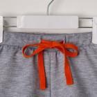 """Комплект: футболка и шорты KAFTAN """"Монстр"""" р.28 (86-92), оранжевый, серый - фото 105468650"""