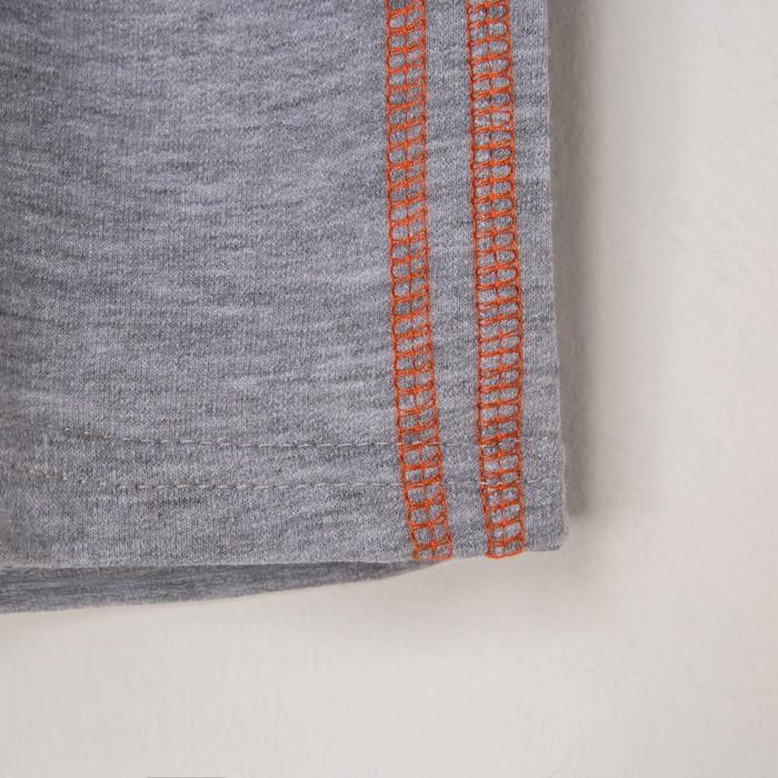 """Комплект: футболка и шорты KAFTAN """"Монстр"""" р.28 (86-92), оранжевый, серый - фото 105468641"""