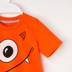 """Комплект: футболка и шорты KAFTAN """"Монстр"""" р.34 (122-128), оранжевый, серый - фото 105468678"""
