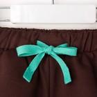 """Комплект: футболка и шорты KAFTAN """"Монстр"""" р.32 (110-116), голубой, коричневый - фото 105468711"""