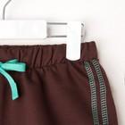 """Комплект: футболка и шорты KAFTAN """"Монстр"""" р.32 (110-116), голубой, коричневый - фото 105468712"""