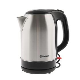 Чайник электрический Sakura SA-2151BK, 1800 Вт, 2.2 л, металл, серебристый