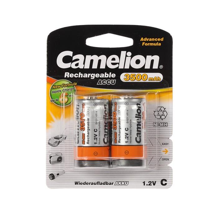 Аккумулятор Camelion, Ni-Mh, C, HR14-2BL (NH-C3500BP2), 1.2В, 3500 мАч, блистер, 2 шт.
