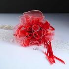 """Букет-дублер для невесты """"Каприз"""", красный, 25х20 см"""