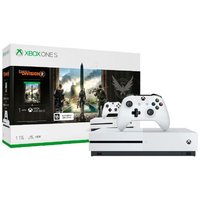 Игровая приставка Xbox One S 1 Тб + Tom Clancy's The Division 2, цвет белый