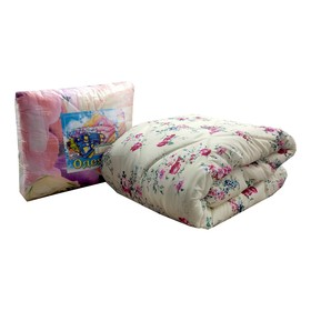 Одеяло Синтепон, 140х205 см, синтетическое волокно 200 гр, цвет МИКС