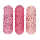 Шнур для вязания полиэфирный 3мм, 50м/105гр, набор 3шт (Комплект 10)