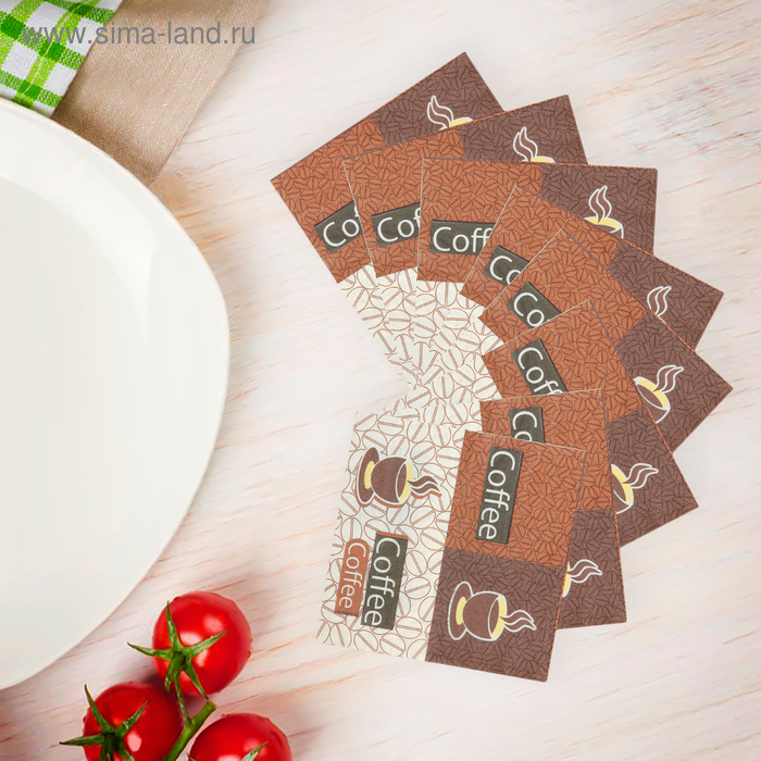Салфетки бумажные (набор 20 шт) 33*33 см Coffee