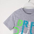 """Комплект: футболка и шорты KAFTAN """"Дрифт"""" р.28 (86-92), чёрный, серый - фото 105468762"""