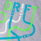 """Комплект: футболка и шорты KAFTAN """"Дрифт"""" р.28 (86-92), чёрный, серый - фото 105468763"""
