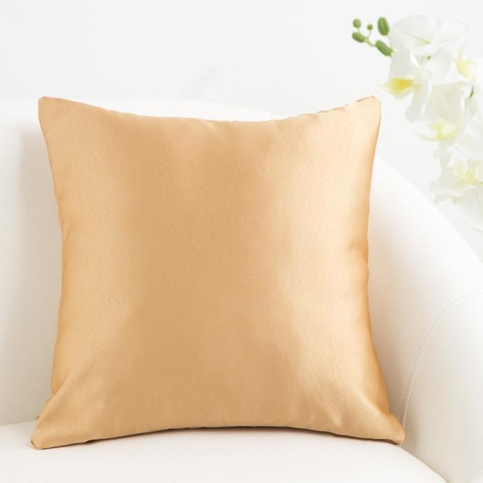 Декоративная подушка «Этель» 40×40 см Дамаск AMBER SOLID, 100% п/э
