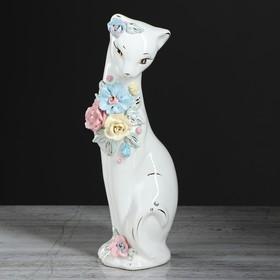 """Копилка """"Кошка Багира"""", покрытие лак, белая, 28 см, микс"""