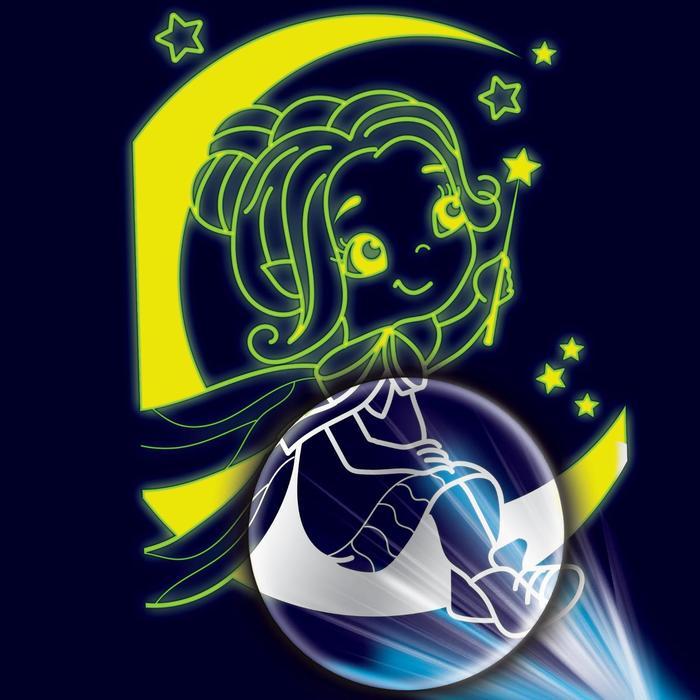 """Лунная гравюра """"Фея"""" 14,8*21 см с металлическим эффектом серебра+ штихель"""