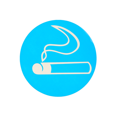 "Decal sign ""Smoking Area"" 18*18, color blue"