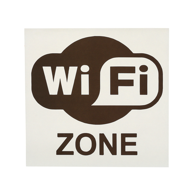 "Decal sign ""wi fi"", 18*18 cm"