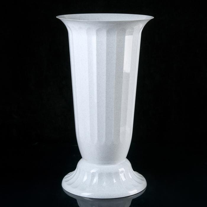 """Вазон с подставкой 12 л """"Флора"""", h=51 см, цвет белый"""