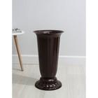 """Вазон с подставкой 12 л """"Флора"""", h=51 см, цвет коричневый"""