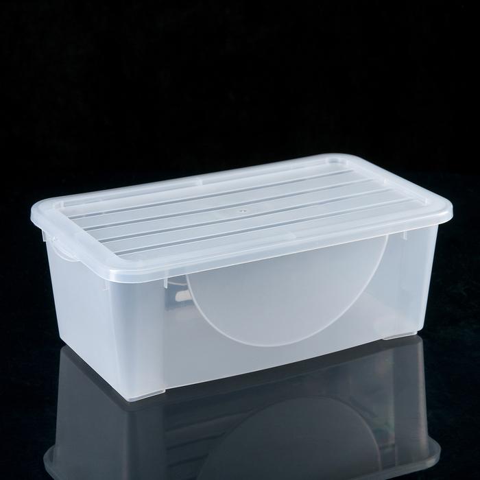 Ёмкость для хранения вещей с крышкой 6 л, цвет МИКС