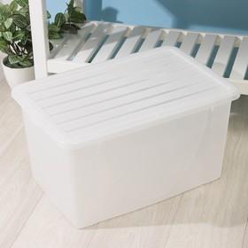 Контейнер для хранения с крышкой 40 л, 56×37,5×30 см, цвет МИКС