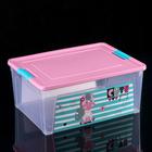 """Контейнер с декором Pet Shop 7,9 л """"Smart Box"""", цвет МИКС"""