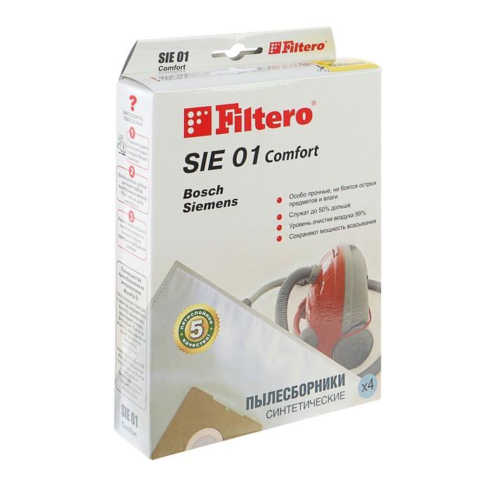 Мешки пылесборники Filtero SIE 01 Comfort, 4 шт., для BOSCH, SIEMENS, синтетические