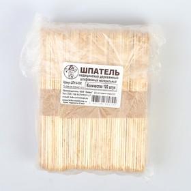 Spatula non-sterile wooden polished, 150 * 18 * 1.8, 100 pcs per pack.