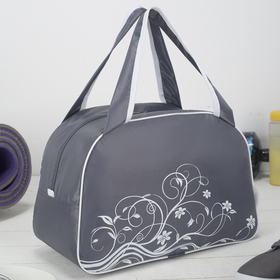 Bag sports Department with zipper, color gray/white