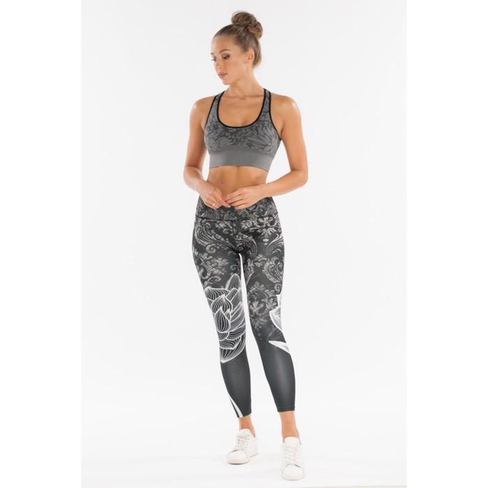 Легинсы женские спортивные, цвет чёрный, размер 44-46 (M)
