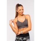 Топ-бра женский спортивный, цвет серый, р-р 44-46 (M)