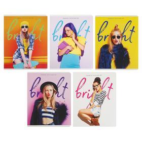 Тетрадь 48 листов в клетку «Девушки. Favorite», обложка мелованный картон, ВД-лак, МИКС