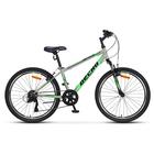 """Велосипед 24"""" Десна Метеор, V010, цвет серый/салатовый, размер 14"""""""