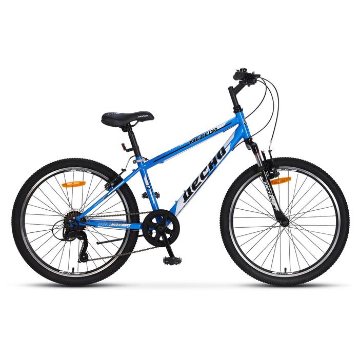 """Велосипед 24"""" Десна Метеор, V010, цвет синий/белый, размер 14"""""""