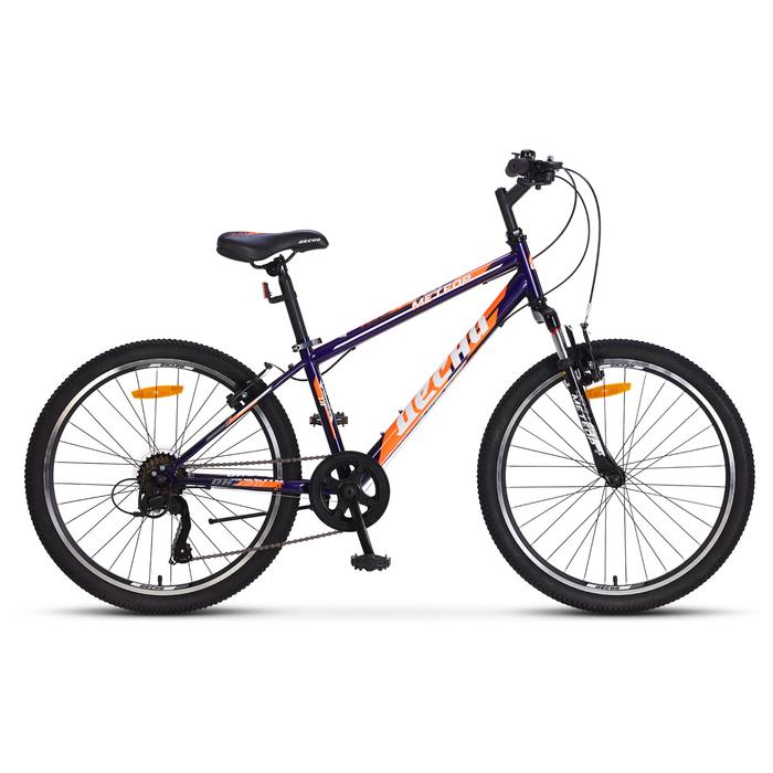 """Велосипед 24"""" Десна Метеор, V010, цвет фиолетовый/оранжевый, размер 14"""""""