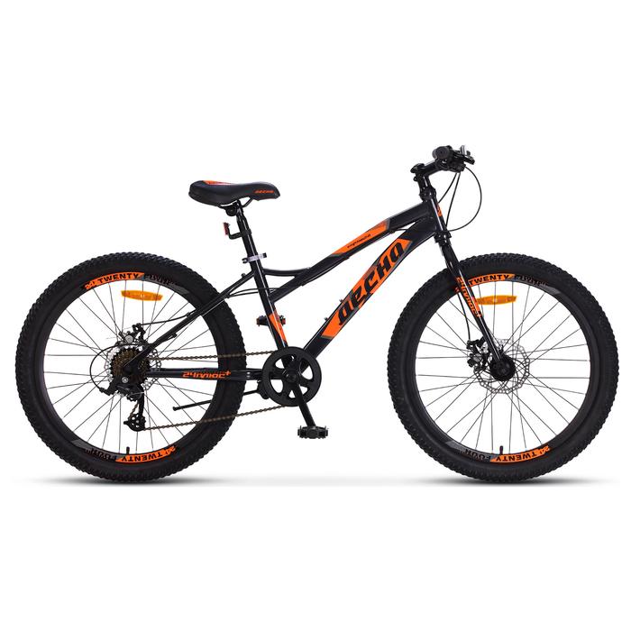 """Велосипед 24"""" Десна Спутник 2.0 MD, Z010, цвет тёмно-серый/оранжевый, размер 14"""""""