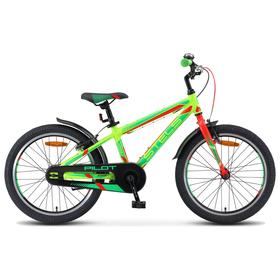 """Велосипед 20"""" Stels Pilot-250 Gent, V010. цвет неон-зеленый/неон-красный, размер 11"""""""