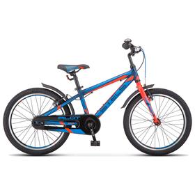 """Велосипед 20"""" Stels Pilot-250 Gent, V010 , цвет темно-синий/неон-красный, размер 11"""""""