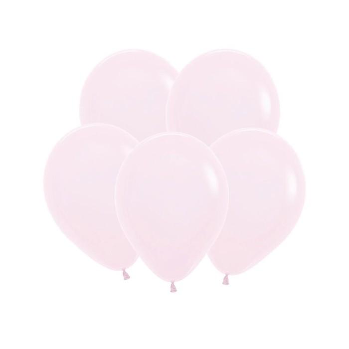 """Шар латексный 12"""" """"Макаронс"""", пастель, матовый, набор 100 шт., цвет нежно-розовый - фото 308467164"""