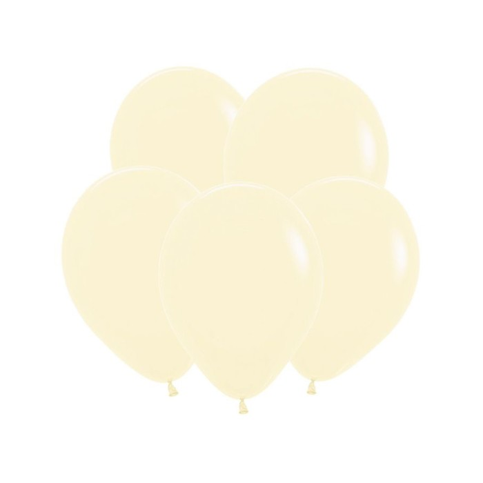 """Шар латексный 12"""" «Макаронс», пастель, матовый, набор 100 шт., цвет нежно-жёлтый - фото 308467167"""
