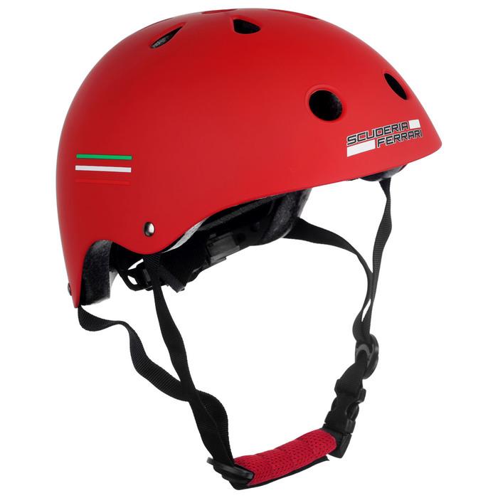 Шлем защитный, детский FERRARI р. S (54-56 см), цвет красный