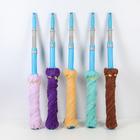 Швабра с отжимом Доляна, телескопическая стальная ручка 80-124 см, насадка из микрофибры, цвет МИКС - фото 4646961
