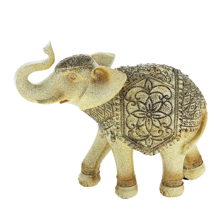 """Сувенир """"Слон с песочным орнаментом на попоне"""""""