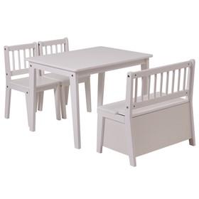 Набор детской мебели Polini kids Dream со скамьёй и стульями, цвет белый
