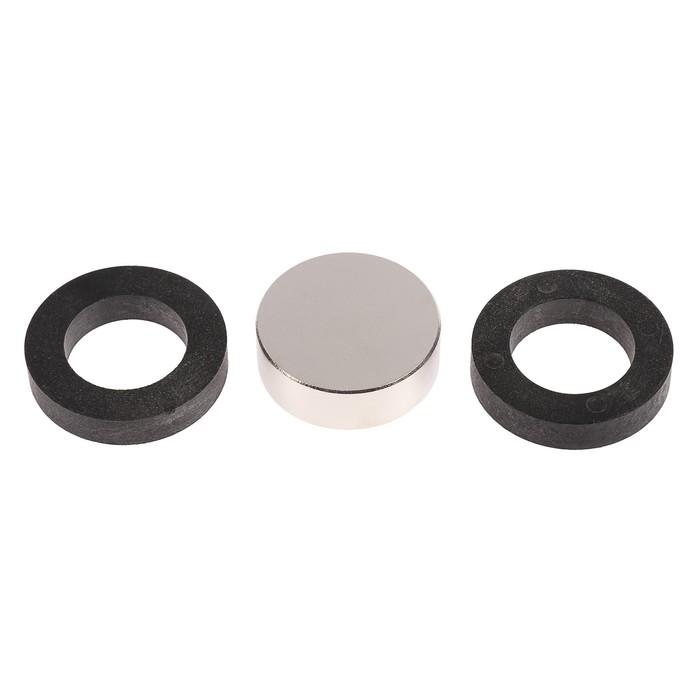 Неодимовый магнит REXANT, диск 45х15 мм, сцепление 65 кг