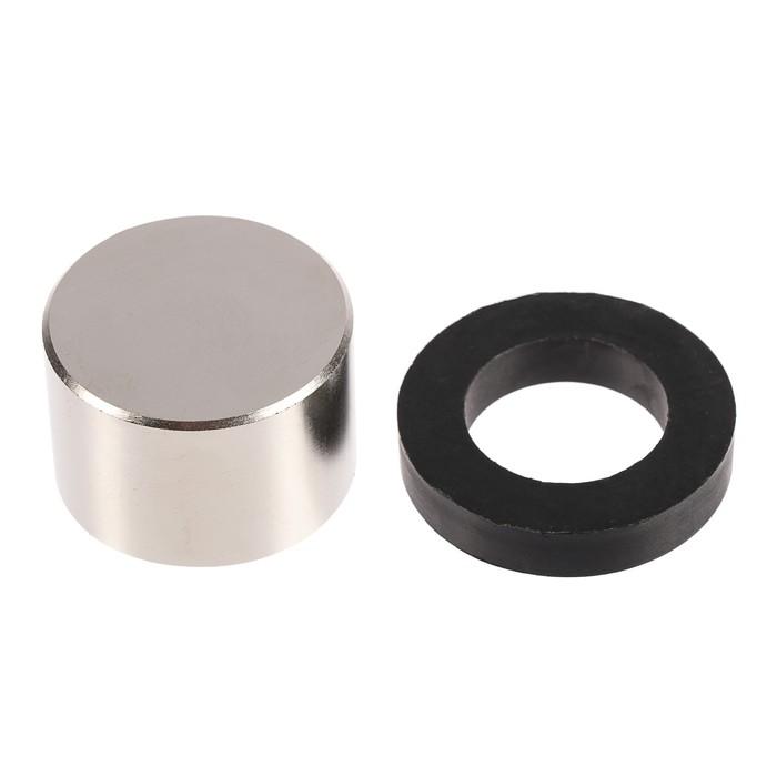 Неодимовый магнит REXANT, диск 45х30 мм, сцепление 100 кг