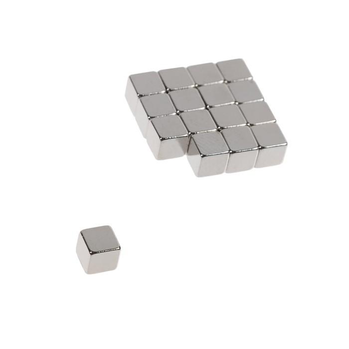 Неодимовый магнит REXANT, куб 5х5х5 мм, сцепление 0.95 кг, 16 шт.